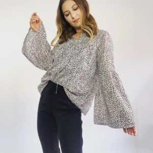 NWT Who What Wear Animal Print Top